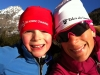 Nina and B skiing x country