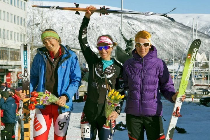 Podium Women's Sprint Tromso,  World Cup Final 2012- Nina Silitch (USA), 2, A. Figura (POL), 3, E. Gex-Fabrey (SUI)