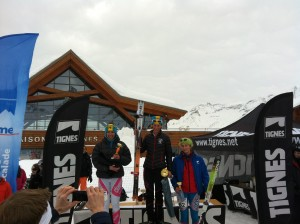 Podium Women AlpiTignes Coupe du France