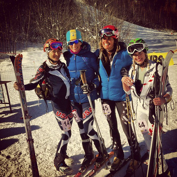 Some of Team USA gals-McKenna Douglas, Janelle Smiley, Meredith Edwards  & Nina at World Champs