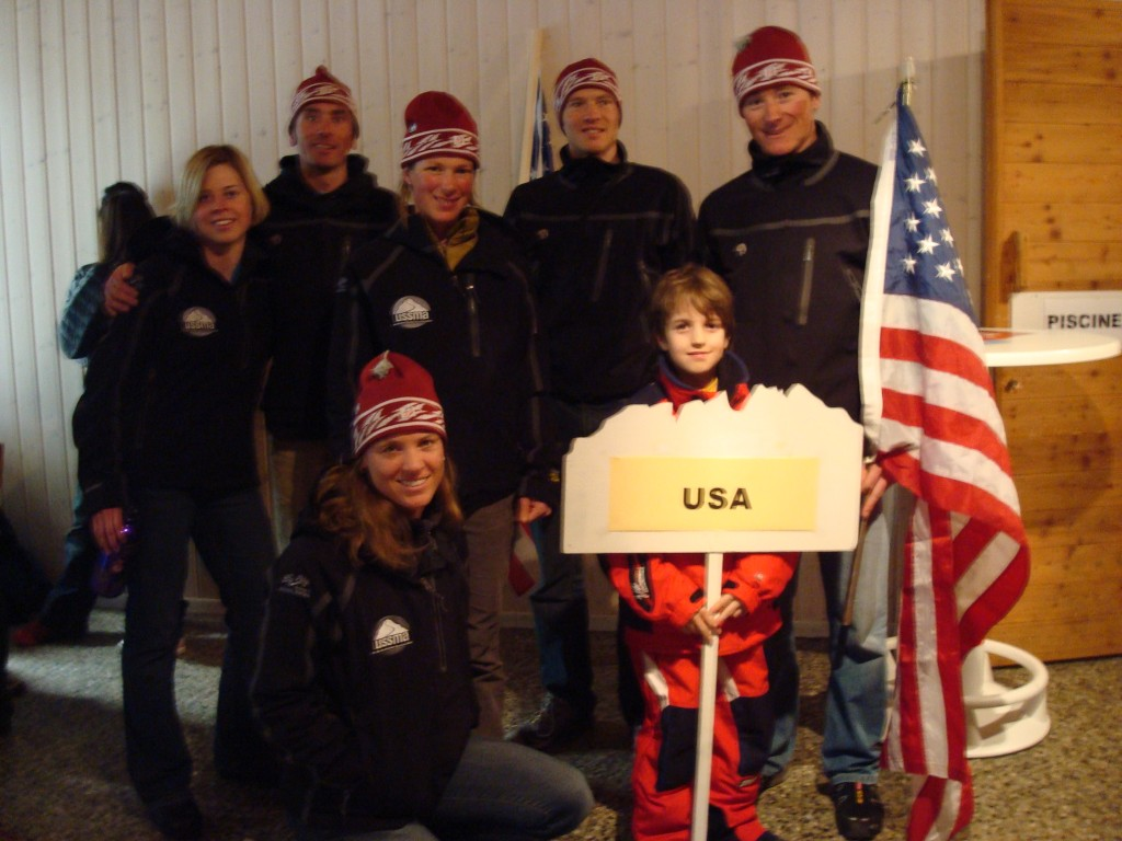 The USA 2008 Ski Mountaineering Team at the World Championships in Switzerland (very well organized by the way!)