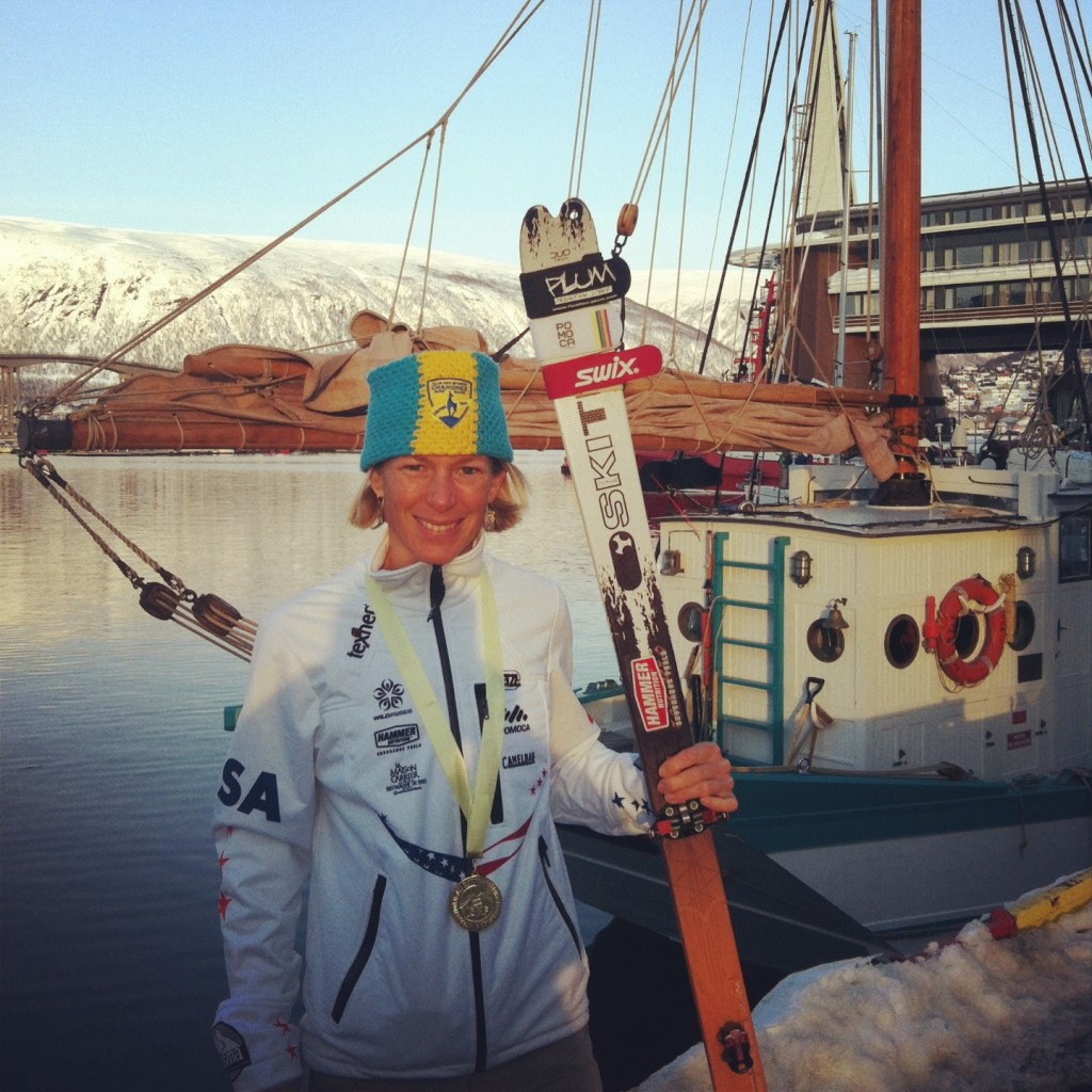 Nina post medal Ceremony on the docks of Tromso Port
