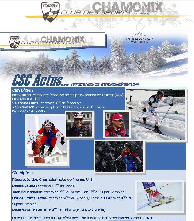 Chamonix Club des Sports News! Ski-Alpinisme on Top!