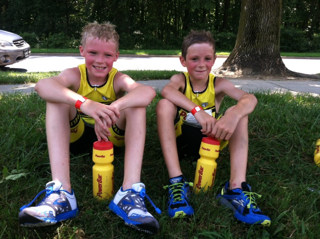 Proud brothers after the Columbia Kidz Tri