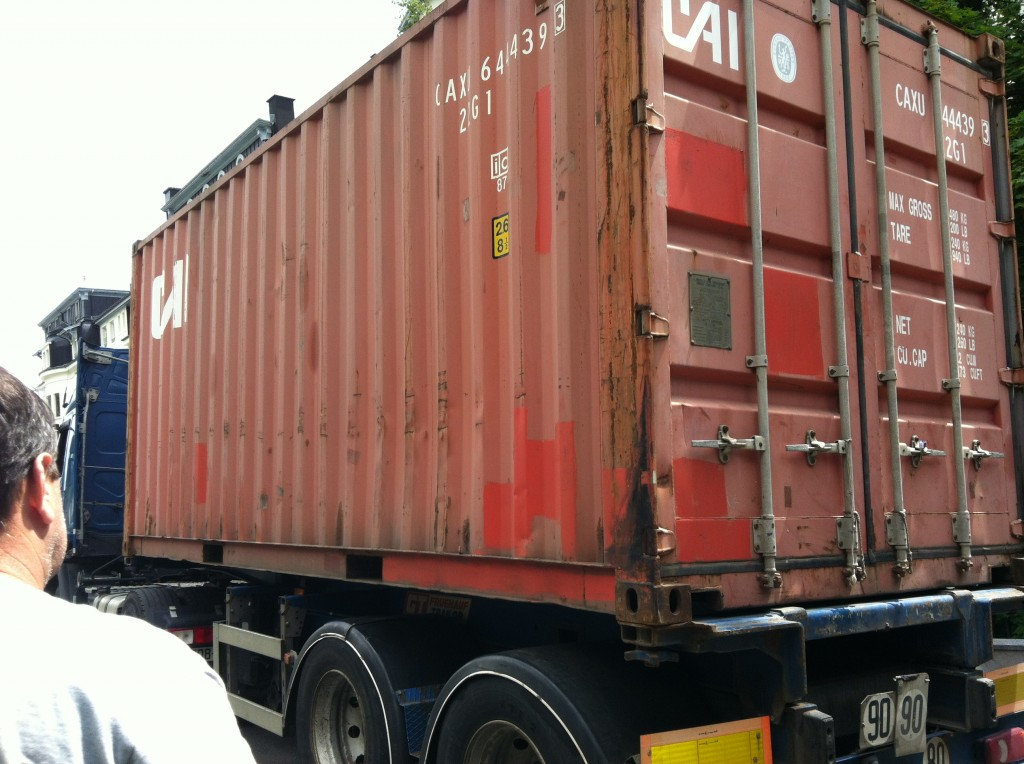 Our Container moving across the pond