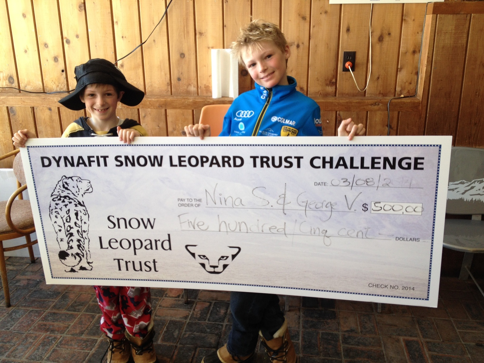Happy to be the winner of the Snow Leopard Challenge!