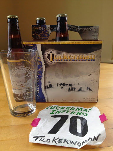 A great way to celebrate post race with the victory beer glass and a bottle of Tuckermans microbrewer beer
