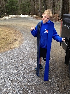 B is ready to sign up next year! He's got his skis!