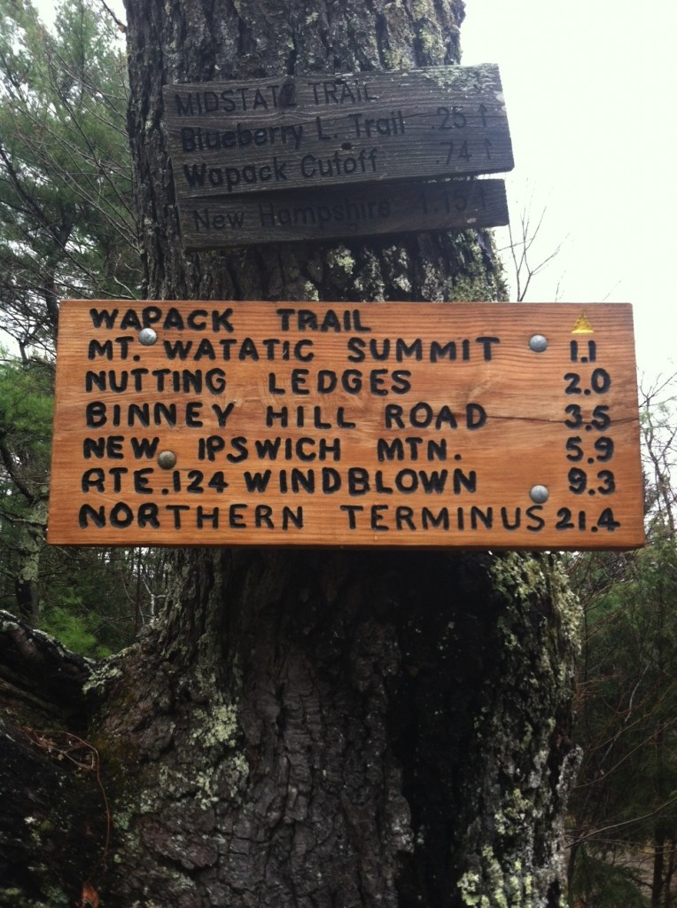 Trail sign along the way. My friend and I still got lost on the recon….