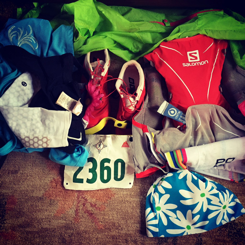 My gear was ready! Excited to run in my Salomon gear!